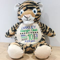 Personalised Tiger  Cubbie Teddy